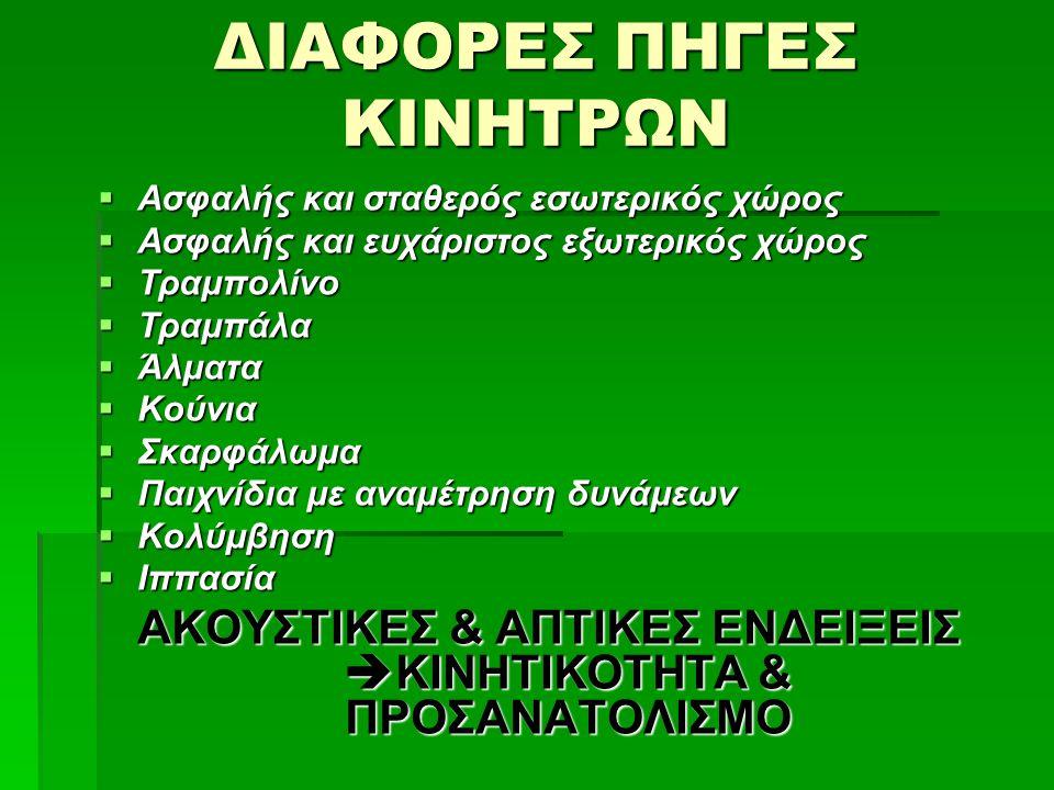 ΔΙΑΦΟΡΕΣ ΠΗΓΕΣ ΚΙΝΗΤΡΩΝ