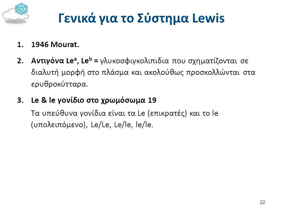 Σύνθεση Lewis antigens