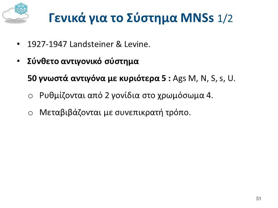 Γενικά για το Σύστημα MNSs 2/2