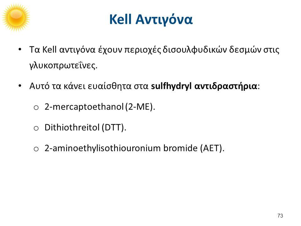 Kellnull ή K0 Μη έκφραση των Kell αντιγόνων εκτός από σχετικό αντιγόνο  Kx (που κωδικοποιείται στην περιοχή Xp21 X).