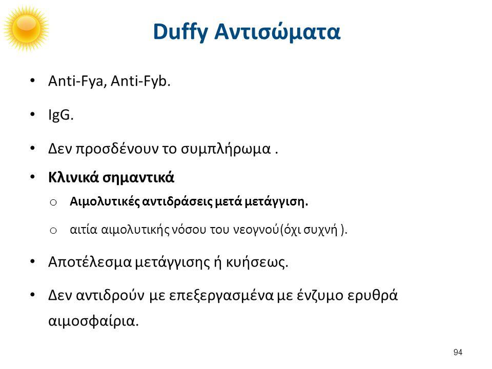 Αντι-Duffy - Τι αίμα θα δώσω;