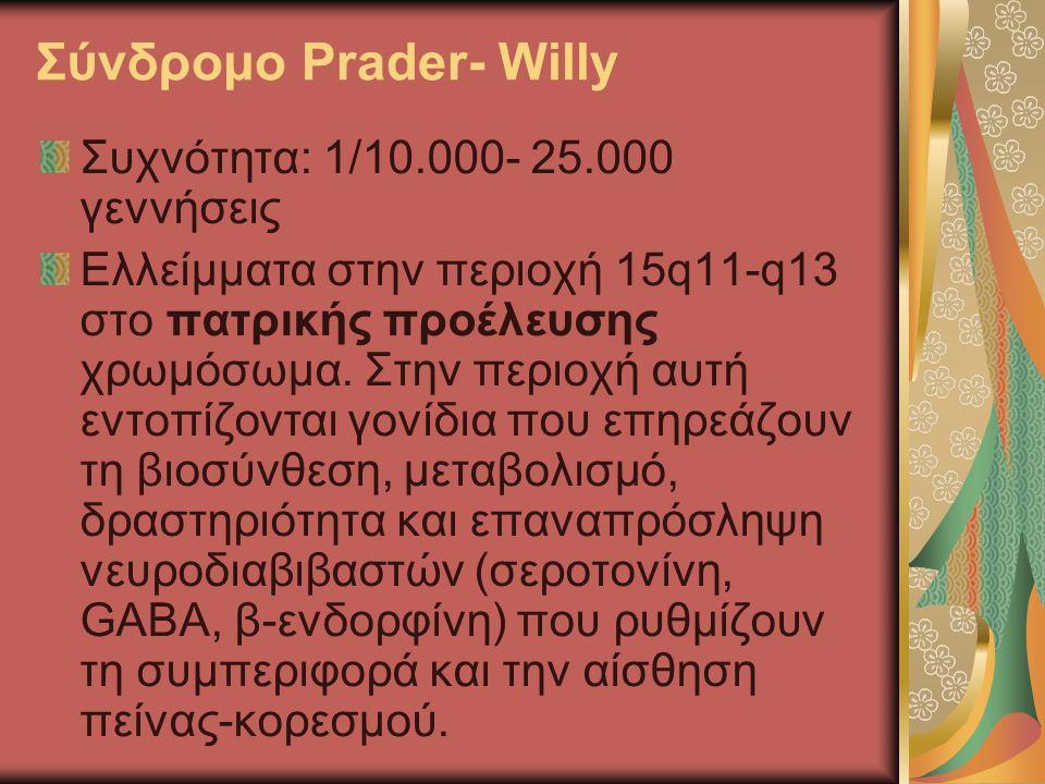 Σύνδρομο Prader- Willy