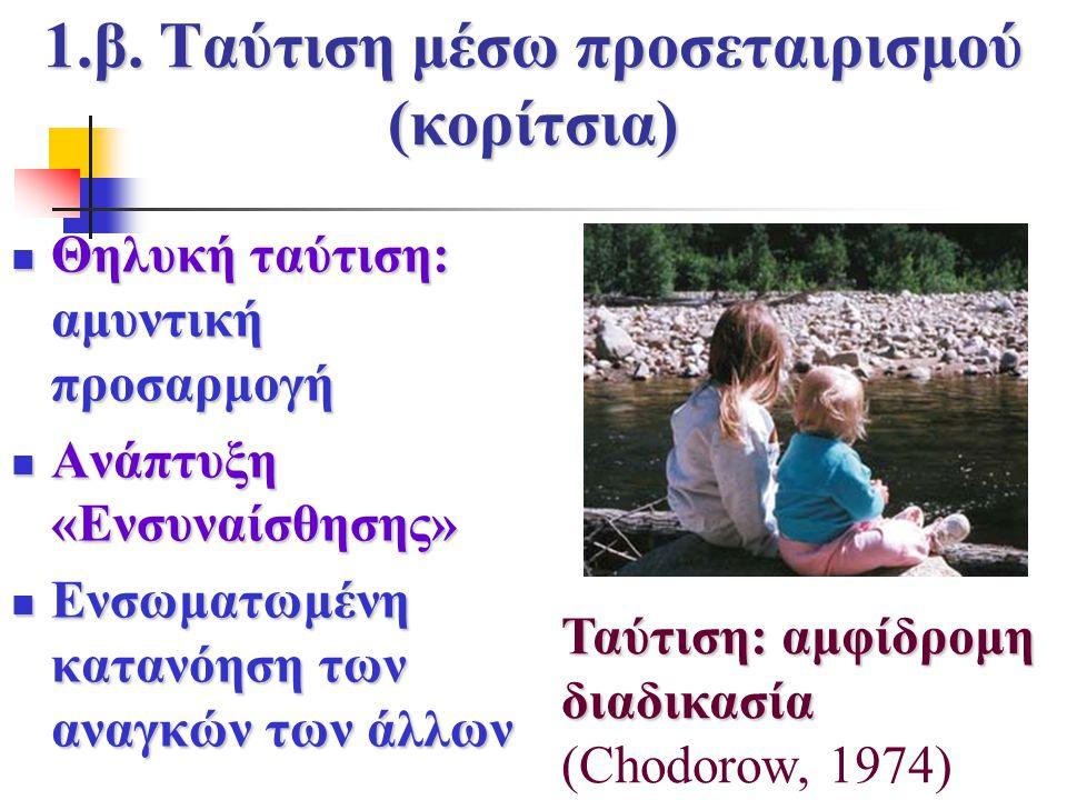 1.β. Ταύτιση μέσω προσεταιρισμού (κορίτσια)