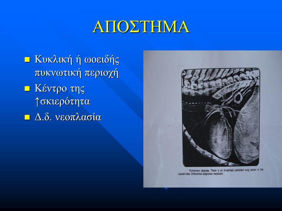 ΑΠΟΣΤΗΜΑ Κυκλική ή ωοειδής πυκνωτική περιοχή Κέντρο της ↑σκιερότητα