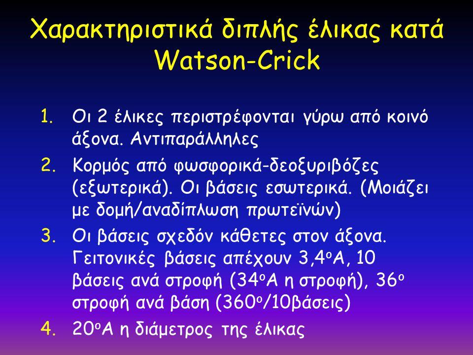 Χαρακτηριστικά διπλής έλικας κατά Watson-Crick