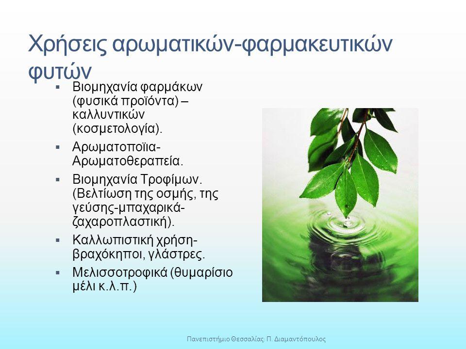 Χρήσεις αρωματικών-φαρμακευτικών φυτών
