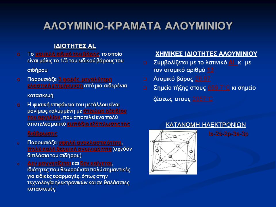 ΑΛΟΥΜΙΝΙΟ-ΚΡΑΜΑΤΑ ΑΛΟΥΜΙΝΙΟΥ