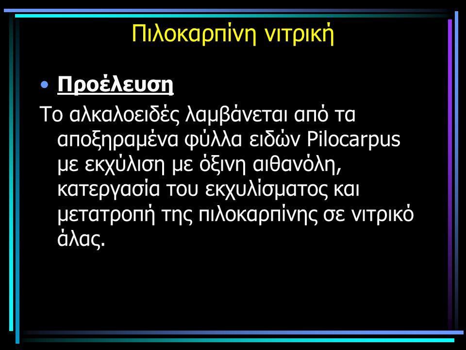Πιλοκαρπίνη νιτρική Προέλευση