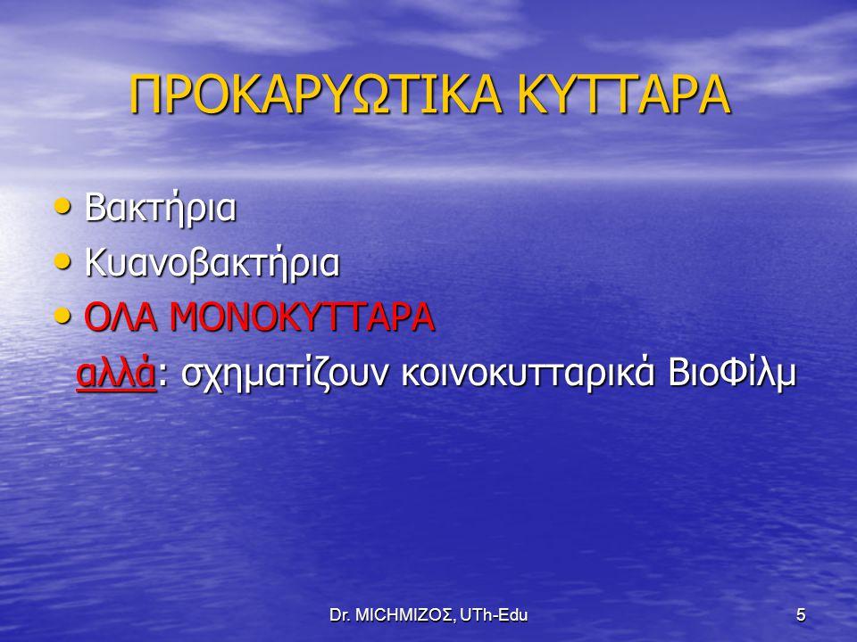 ΠΡΟΚΑΡΥΩΤΙΚΑ ΚΥΤΤΑΡΑ Βακτήρια Κυανοβακτήρια ΟΛΑ ΜΟΝΟΚΥΤΤΑΡΑ