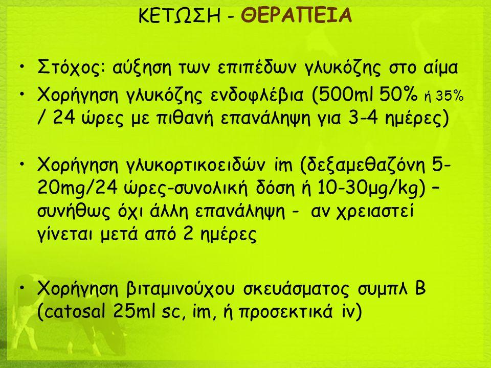 ΚΕΤΩΣΗ - ΘΕΡΑΠΕΙΑ Στόχος: αύξηση των επιπέδων γλυκόζης στο αίμα.