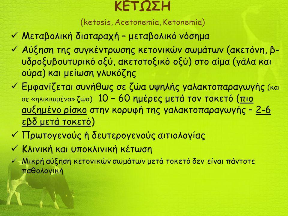 ΚΕΤΩΣΗ (ketosis, Acetonemia, Ketonemia)