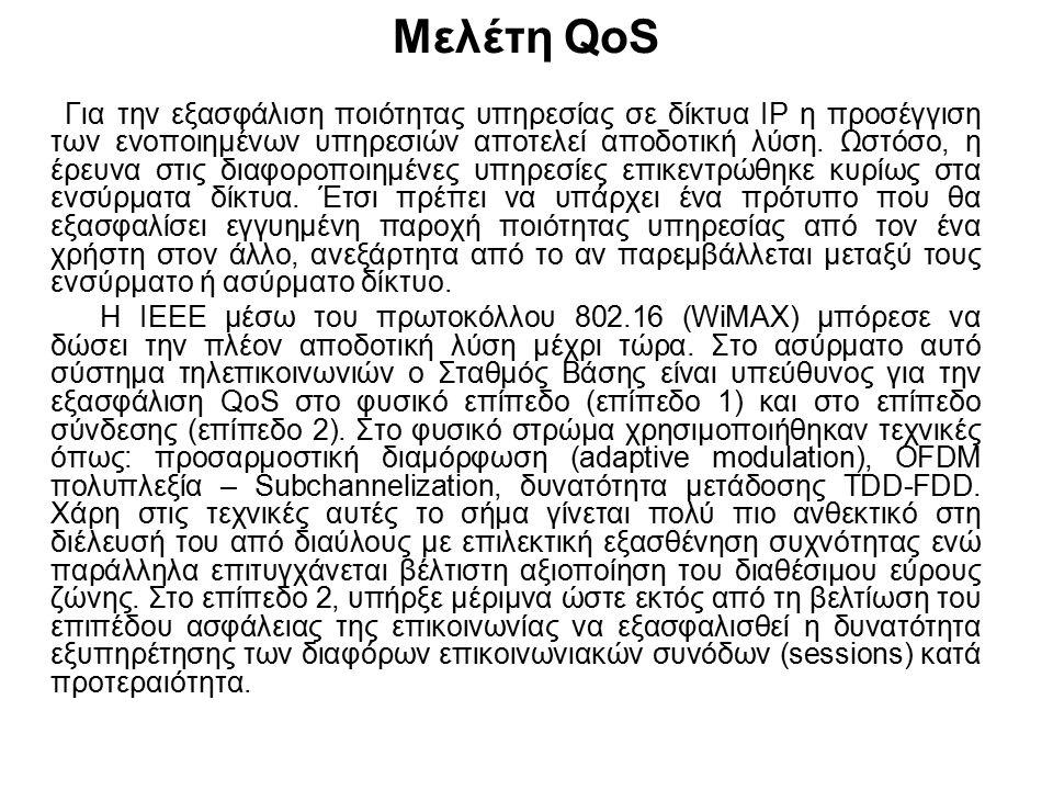 Μελέτη QoS