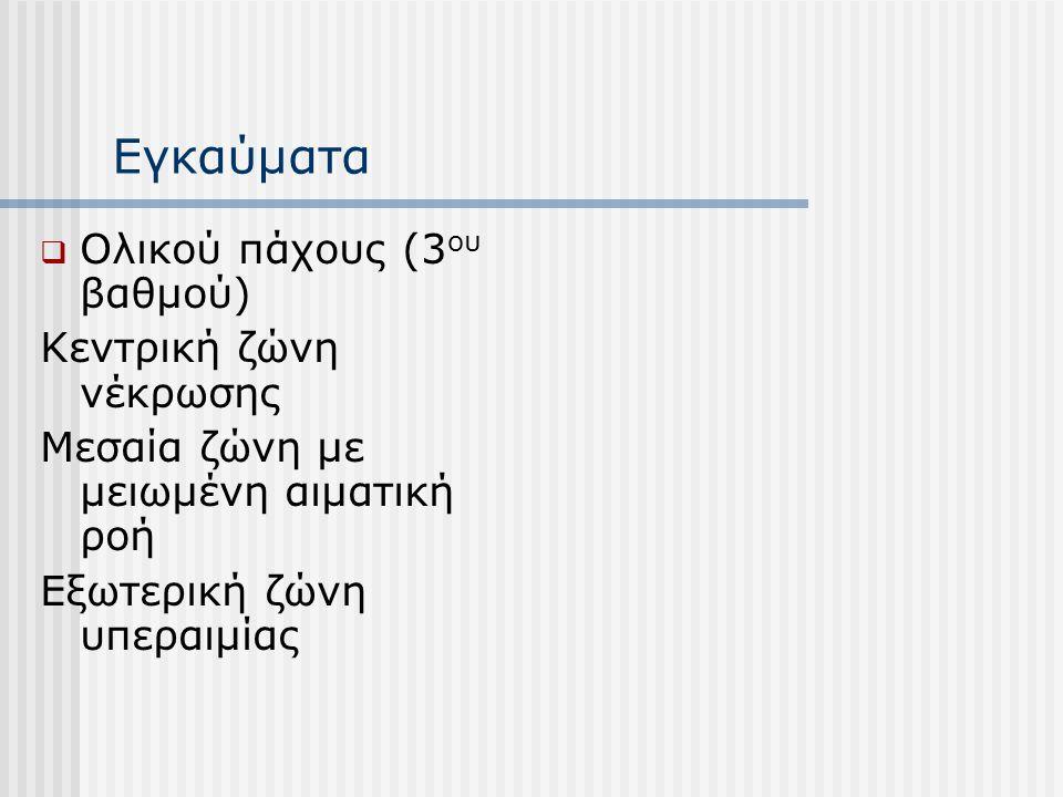 Εγκαύματα Ολικού πάχους (3ου βαθμού) Κεντρική ζώνη νέκρωσης