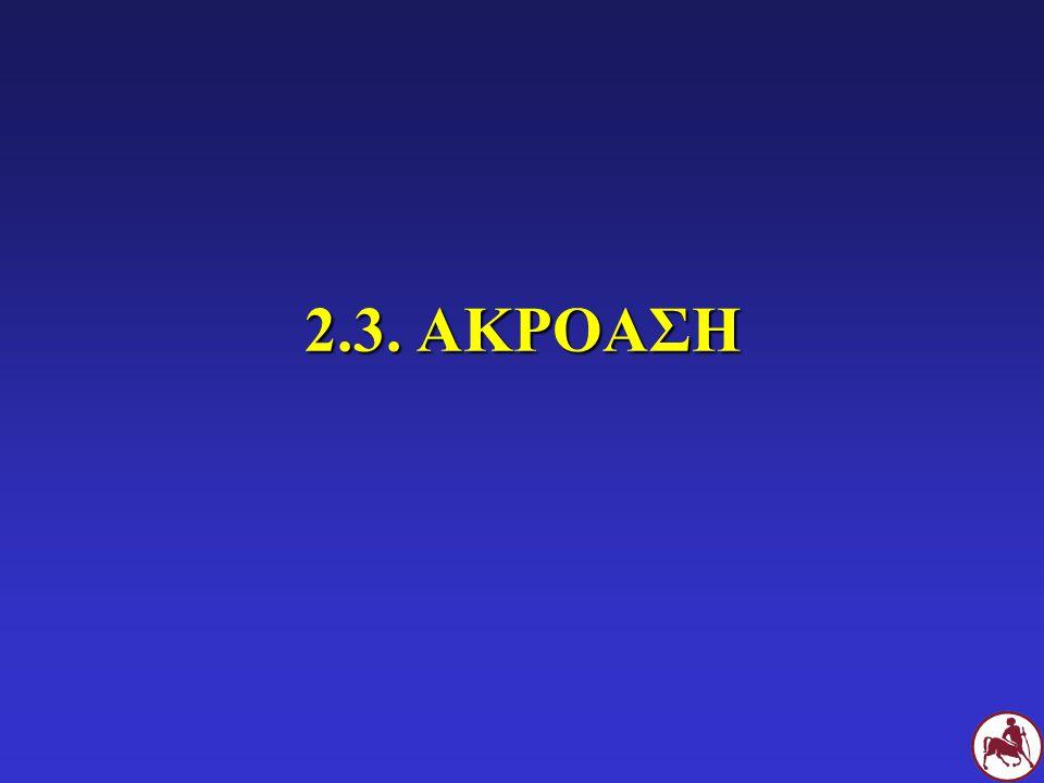 2.3. ΑΚΡΟΑΣΗ