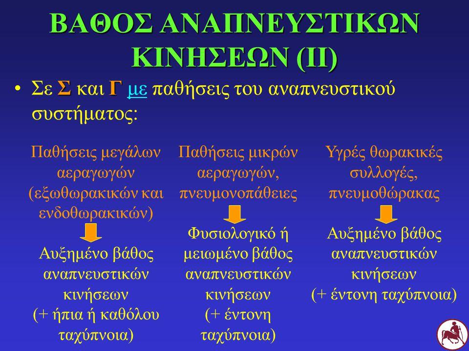 ΒΑΘΟΣ ΑΝΑΠΝΕΥΣΤΙΚΩΝ ΚΙΝΗΣΕΩΝ (ΙΙ)