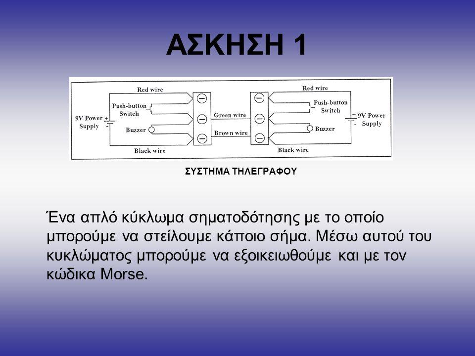 ΑΣΚΗΣΗ 1 ΣΥΣΤΗΜΑ ΤΗΛΕΓΡΑΦΟΥ