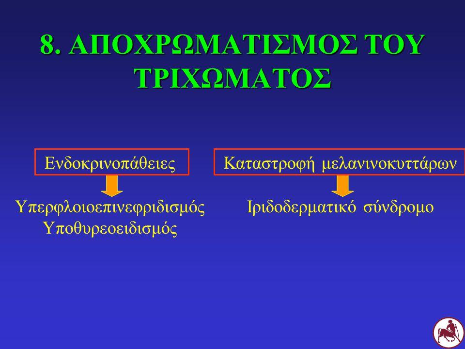 8. ΑΠΟΧΡΩΜΑΤΙΣΜΟΣ ΤΟΥ ΤΡΙΧΩΜΑΤΟΣ