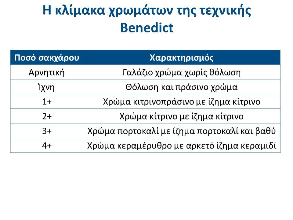 Τεχνική Benedict Εργαστήριο Ανάλυσης Βιολογικών Υγρών & Εκκριμάτων ΤΕΙ Αθήνας