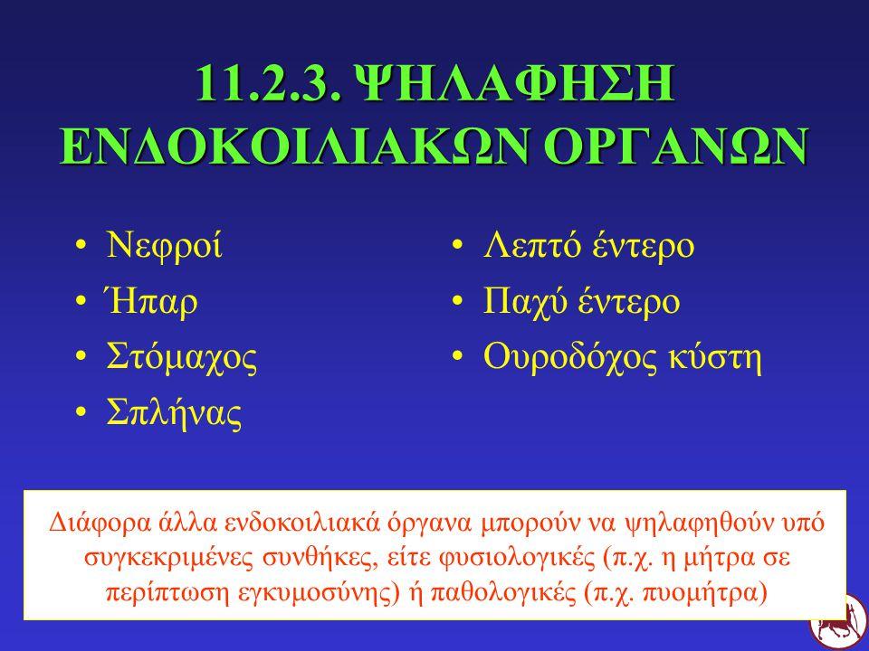 11.2.3. ΨΗΛΑΦΗΣΗ ΕΝΔΟΚΟΙΛΙΑΚΩΝ ΟΡΓΑΝΩΝ