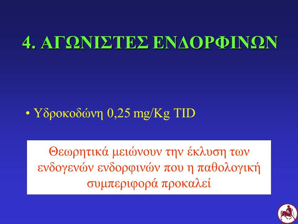 4. ΑΓΩΝΙΣΤΕΣ ΕΝΔΟΡΦΙΝΩΝ Υδροκοδώνη 0,25 mg/Kg TID