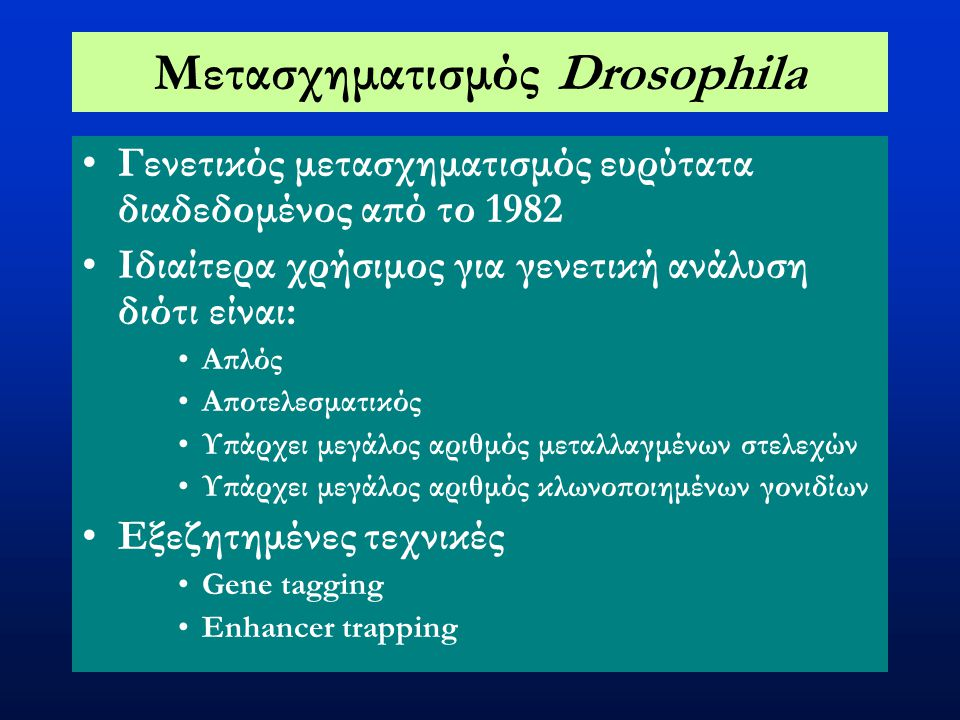 Μετασχηματισμός Drosophila