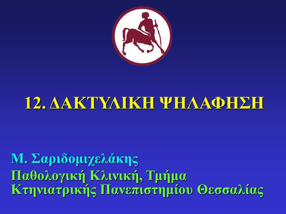 12. ΔΑΚΤΥΛΙΚΗ ΨΗΛΑΦΗΣΗ Μ. Σαριδομιχελάκης