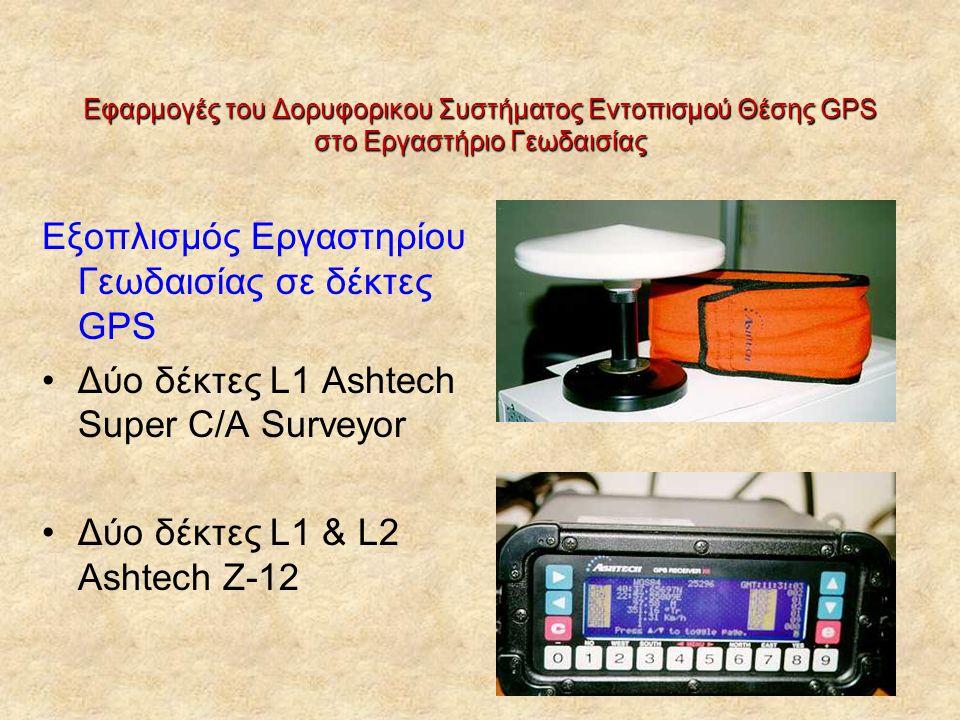 Εξοπλισμός Εργαστηρίου Γεωδαισίας σε δέκτες GPS