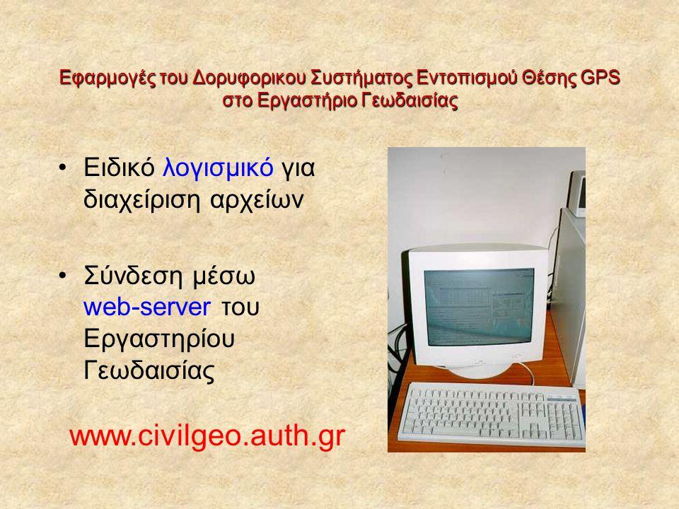 www.civilgeo.auth.gr Ειδικό λογισμικό για διαχείριση αρχείων