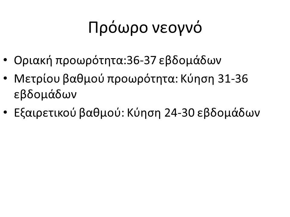 Πρόωρο νεογνό Οριακή προωρότητα:36-37 εβδομάδων