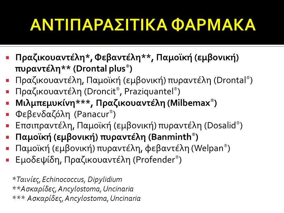 ΑΝΤΙΠΑΡΑΣΙΤΙΚΑ ΦΑΡΜΑΚΑ
