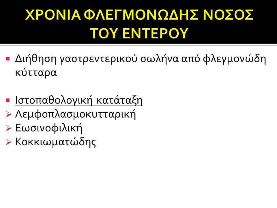 ΧΡΟΝΙΑ ΦΛΕΓΜΟΝΩΔΗΣ ΝΟΣΟΣ ΤΟΥ ΕΝΤΕΡΟΥ