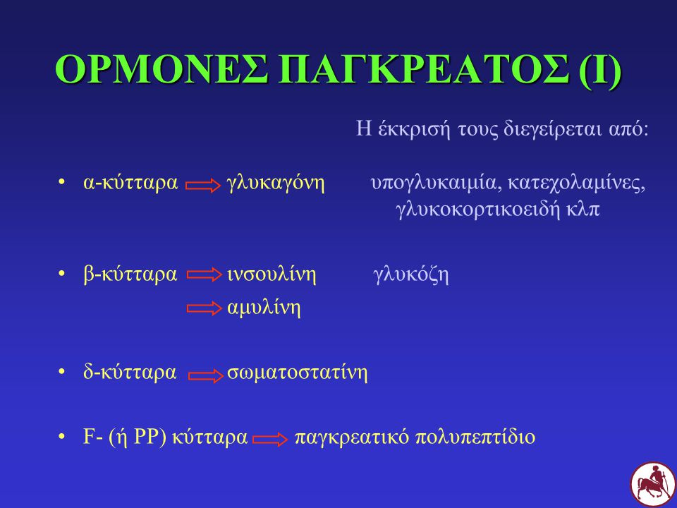 ΟΡΜΟΝΕΣ ΠΑΓΚΡΕΑΤΟΣ (Ι)