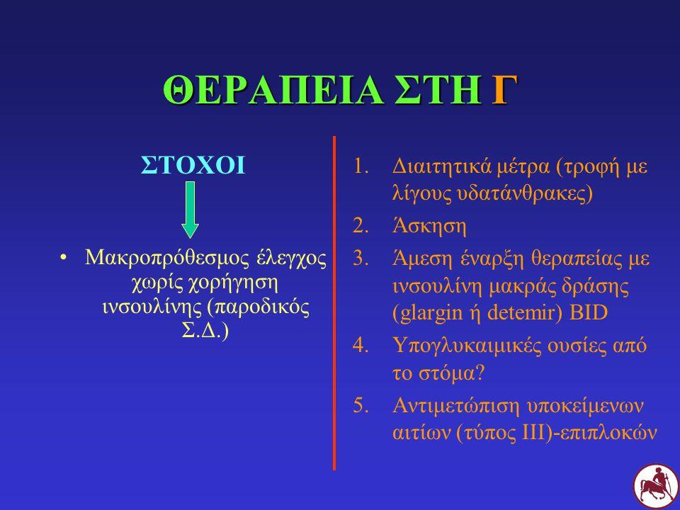 Μακροπρόθεσμος έλεγχος χωρίς χορήγηση ινσουλίνης (παροδικός Σ.Δ.)