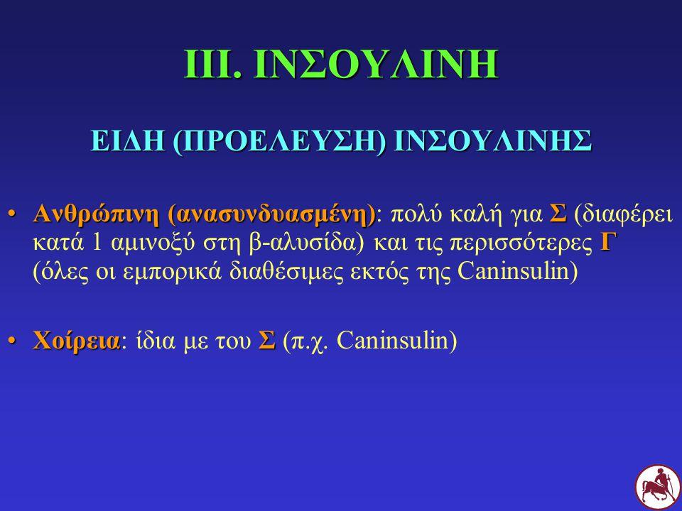 ΕΙΔΗ (ΠΡΟΕΛΕΥΣΗ) ΙΝΣΟΥΛΙΝΗΣ