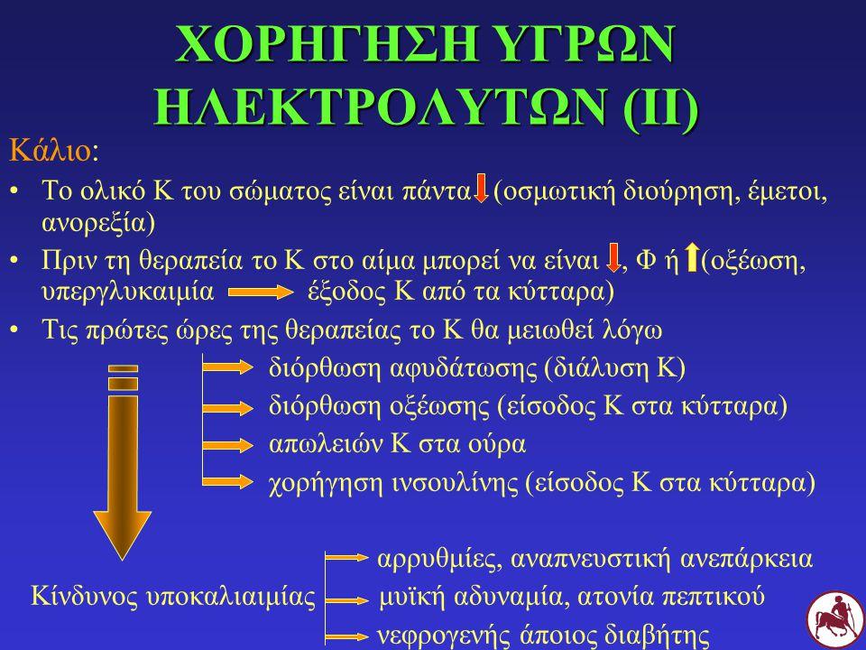 ΧΟΡΗΓΗΣΗ ΥΓΡΩΝ ΗΛΕΚΤΡΟΛΥΤΩΝ (ΙI)