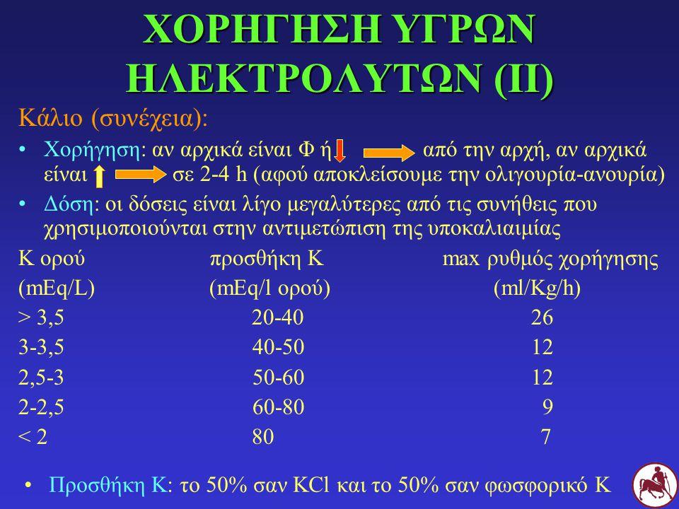 ΧΟΡΗΓΗΣΗ ΥΓΡΩΝ ΗΛΕΚΤΡΟΛΥΤΩΝ (II)