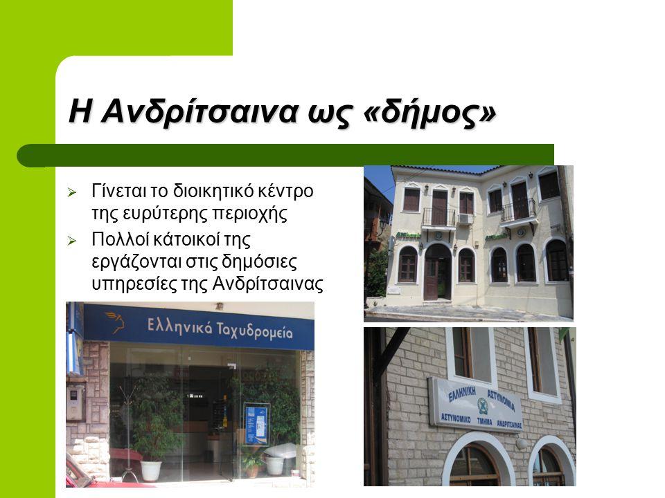 Η Ανδρίτσαινα ως «δήμος»