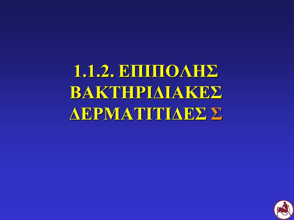 1.1.2. ΕΠΙΠΟΛΗΣ ΒΑΚΤΗΡΙΔΙΑΚΕΣ ΔΕΡΜΑΤΙΤΙΔΕΣ Σ