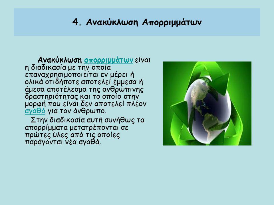 4. Ανακύκλωση Απορριμμάτων