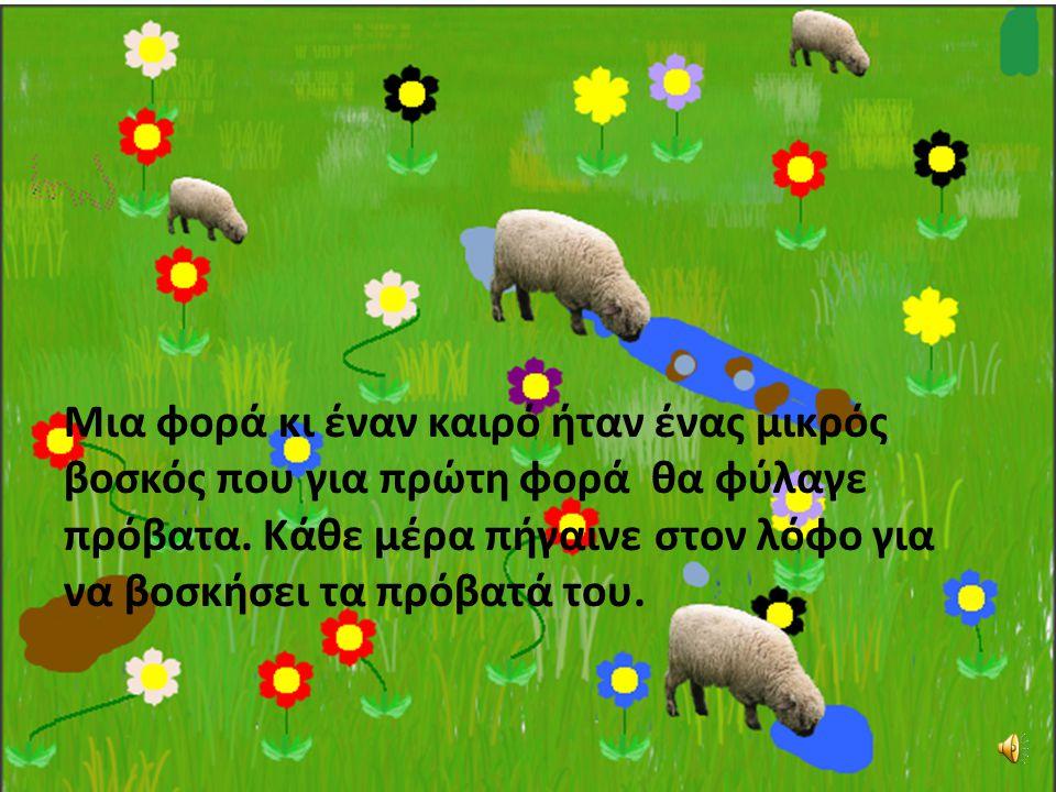 Μια φορά κι έναν καιρό ήταν ένας μικρός βοσκός που για πρώτη φορά θα φύλαγε πρόβατα.