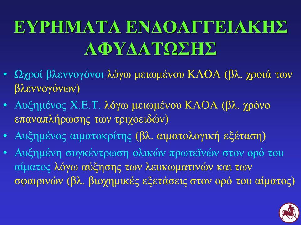 ΕΥΡΗΜΑΤΑ ΕΝΔΟΑΓΓΕΙΑΚΗΣ ΑΦΥΔΑΤΩΣΗΣ