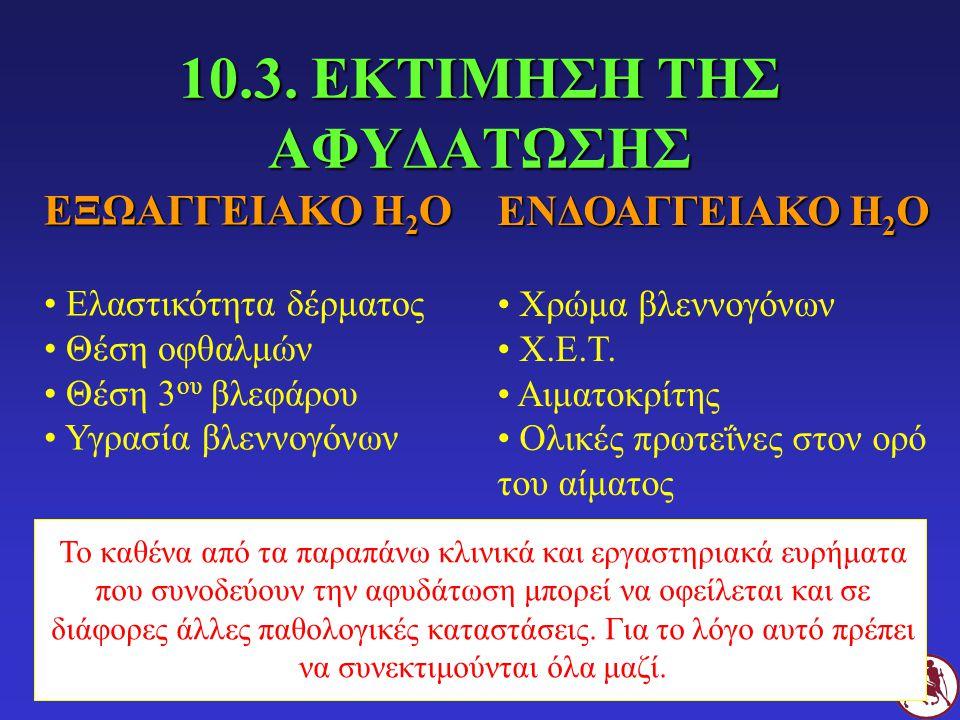 10.3. ΕΚΤΙΜΗΣΗ ΤΗΣ ΑΦΥΔΑΤΩΣΗΣ