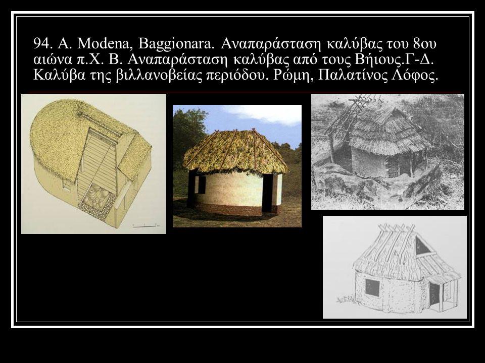 94. Α. Modena, Baggionara. Αναπαράσταση καλύβας του 8ου αιώνα π. Χ. Β