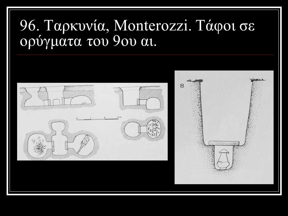 96. Ταρκυνία, Monterozzi. Tάφοι σε ορύγματα του 9ου αι.