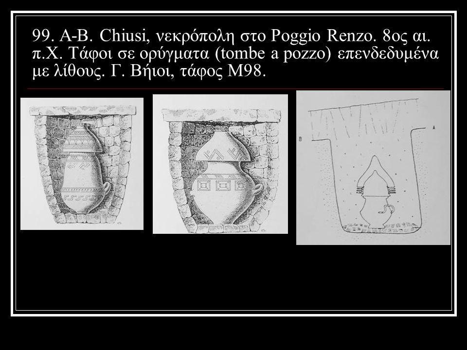 99. Α-Β. Chiusi, νεκρόπολη στο Poggio Renzo. 8ος αι. π. Χ