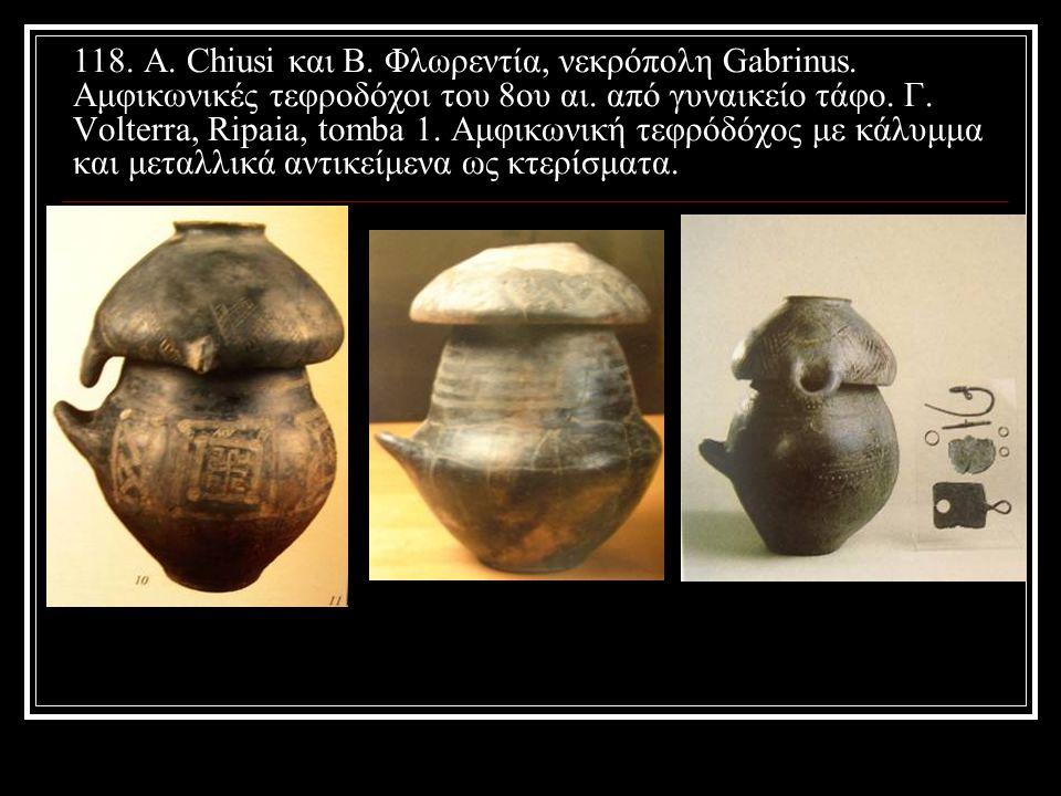 118. Α. Chiusi και Β. Φλωρεντία, νεκρόπολη Gabrinus