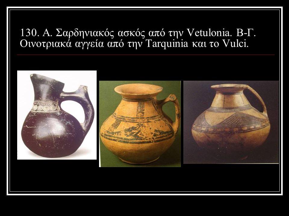 130. A. Σαρδηνιακός ασκός από την Vetulonia. Β-Γ