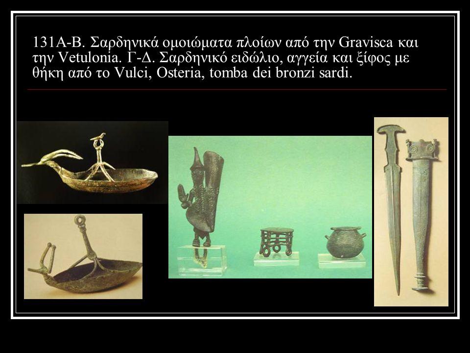 131A-B. Σαρδηνικά ομοιώματα πλοίων από την Gravisca και την Vetulonia