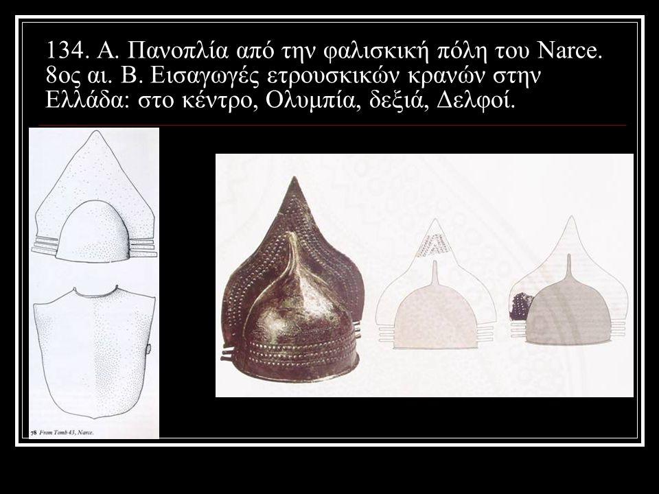 134. Α. Πανοπλία από την φαλισκική πόλη του Narce. 8ος αι. Β