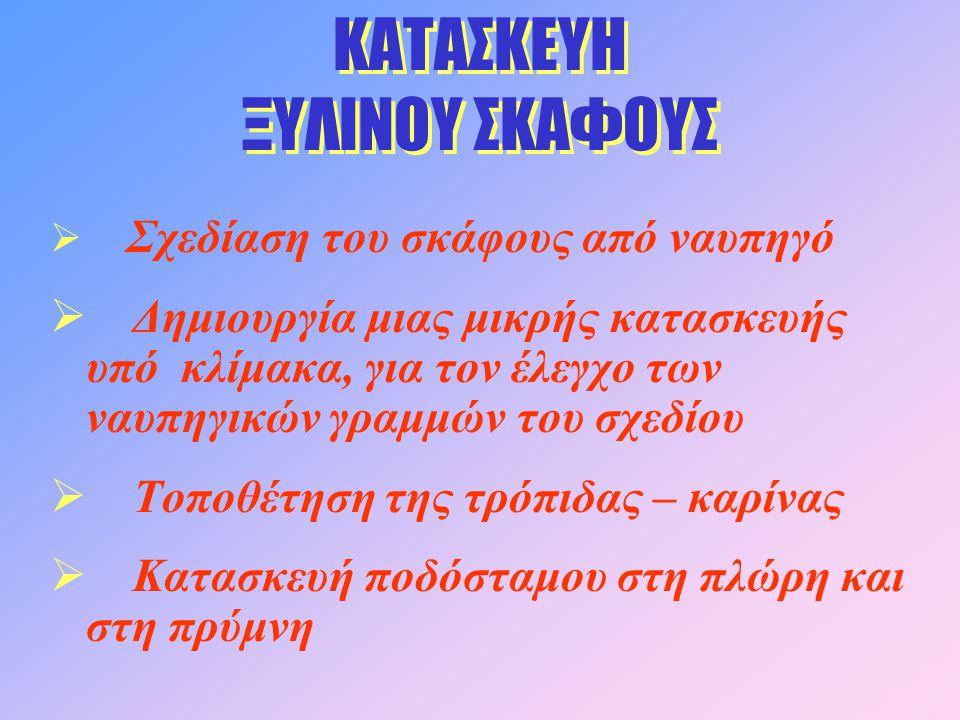 ΚΑΤΑΣΚΕΥΗ ΞΥΛΙΝΟΥ ΣΚΑΦΟΥΣ
